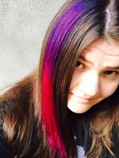 Aleen Dyes Her Hair Bright Colors